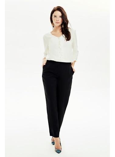 NaraMaxx Bol Kesim Klasik Pantolon Siyah